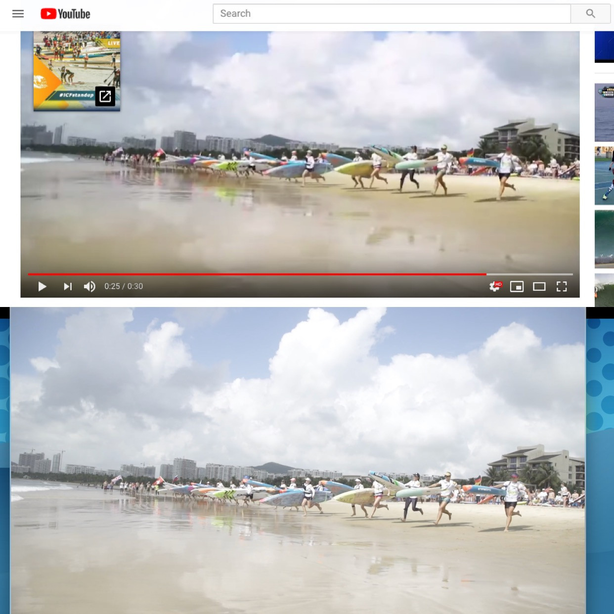 The footage from the ICF's SUP World Championship promotional video ©YouTube