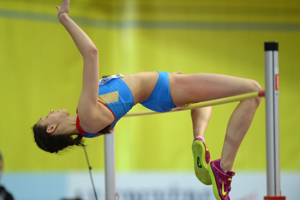 Mariya Kuchina won a high jump gold medal for Russia at the last World Indoor Championships in Sopot in 2014