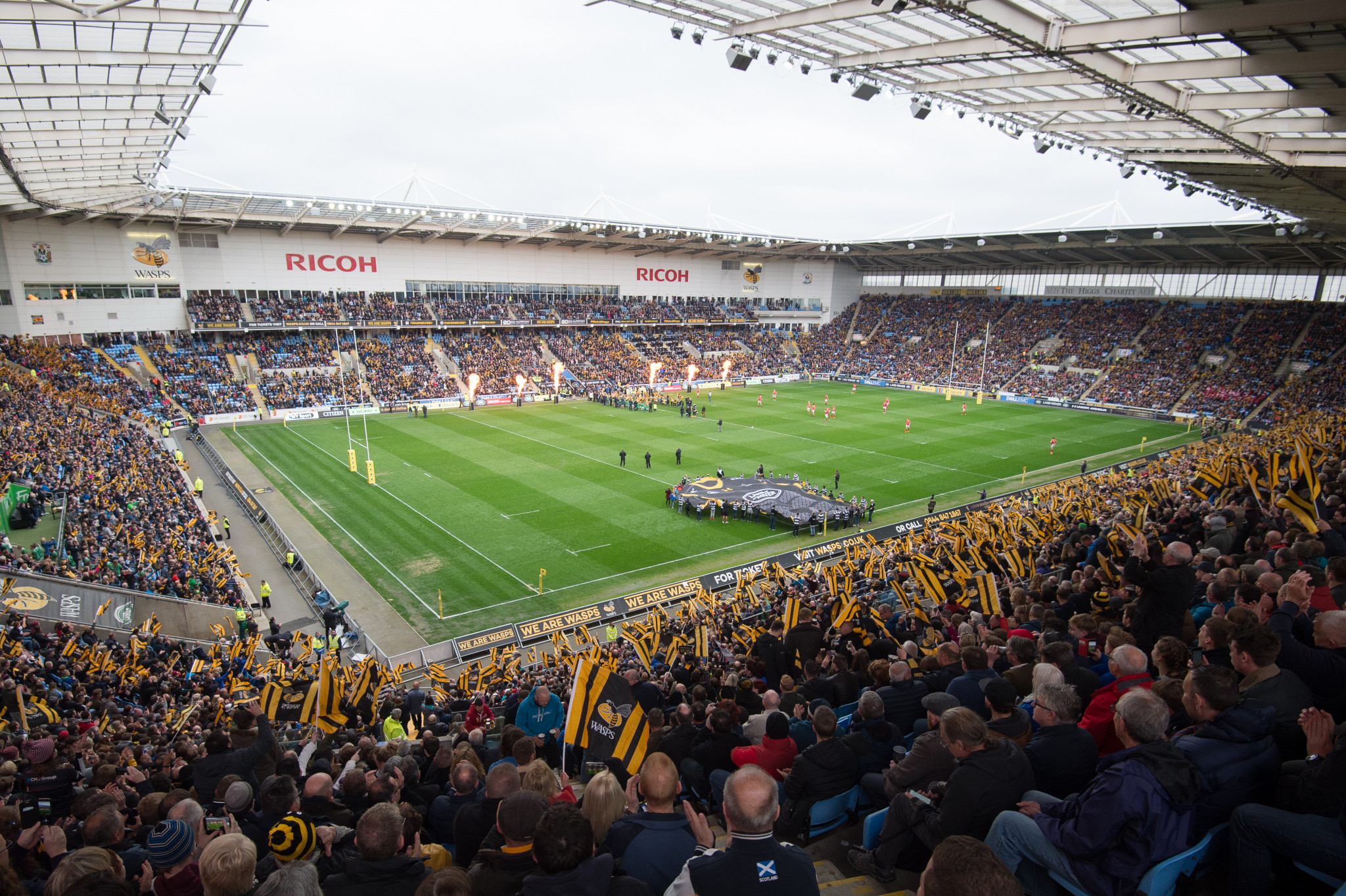 The Ricoh Arena in Coventry is the home ground of Premiership Rugby club Wasps ©Getty Images