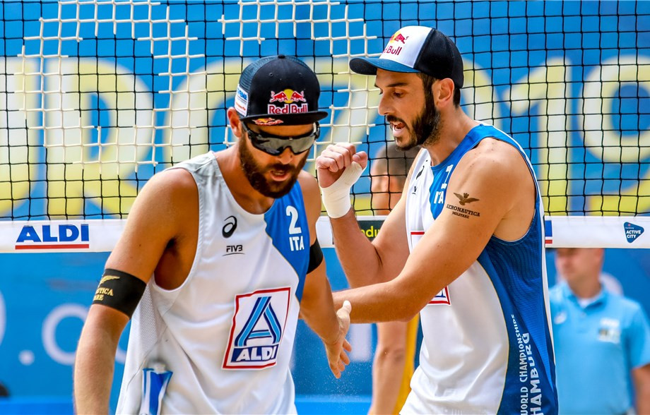 Italy's Daniele Lupo and Paolo Nicolai will be looking to make their mark on home sand ©FIVB