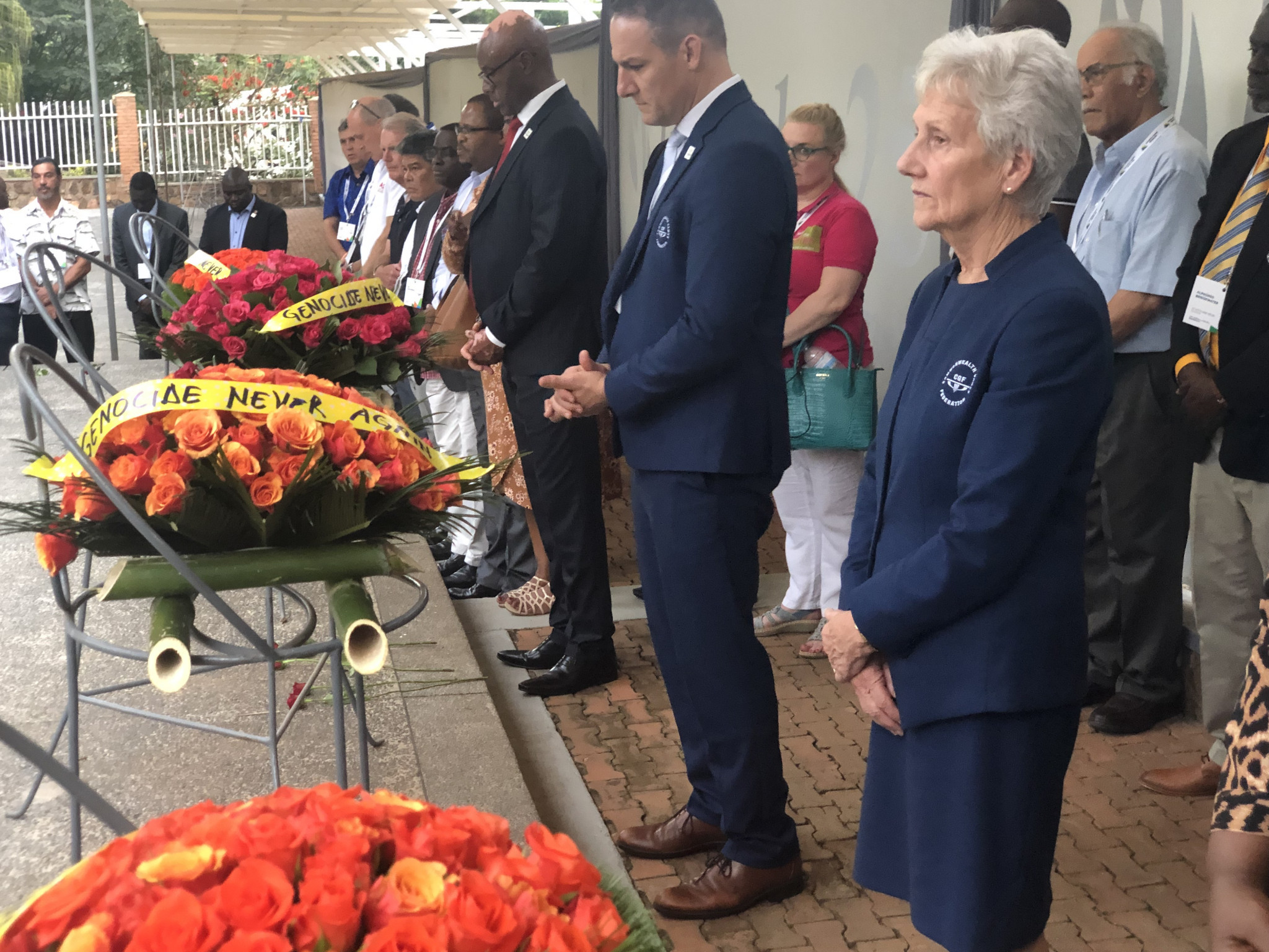 CGF President lays wreath at Kigali Genocide Memorial to mark 25th anniversary