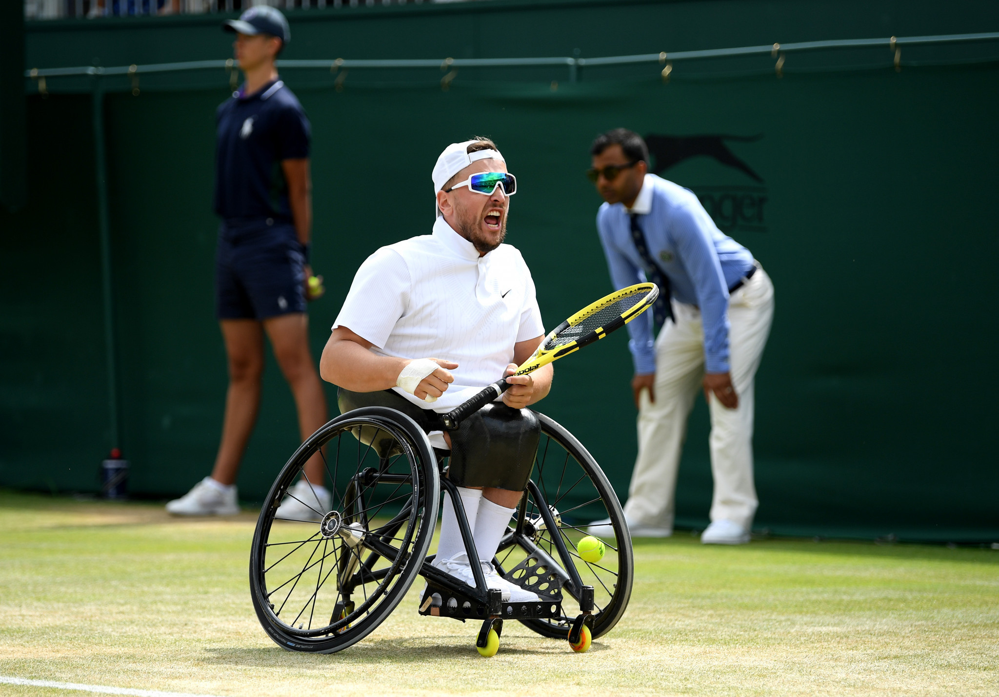 Dylan Alcott could claim two calendar Grand Slams in the quad singles and doubles ©Getty Images