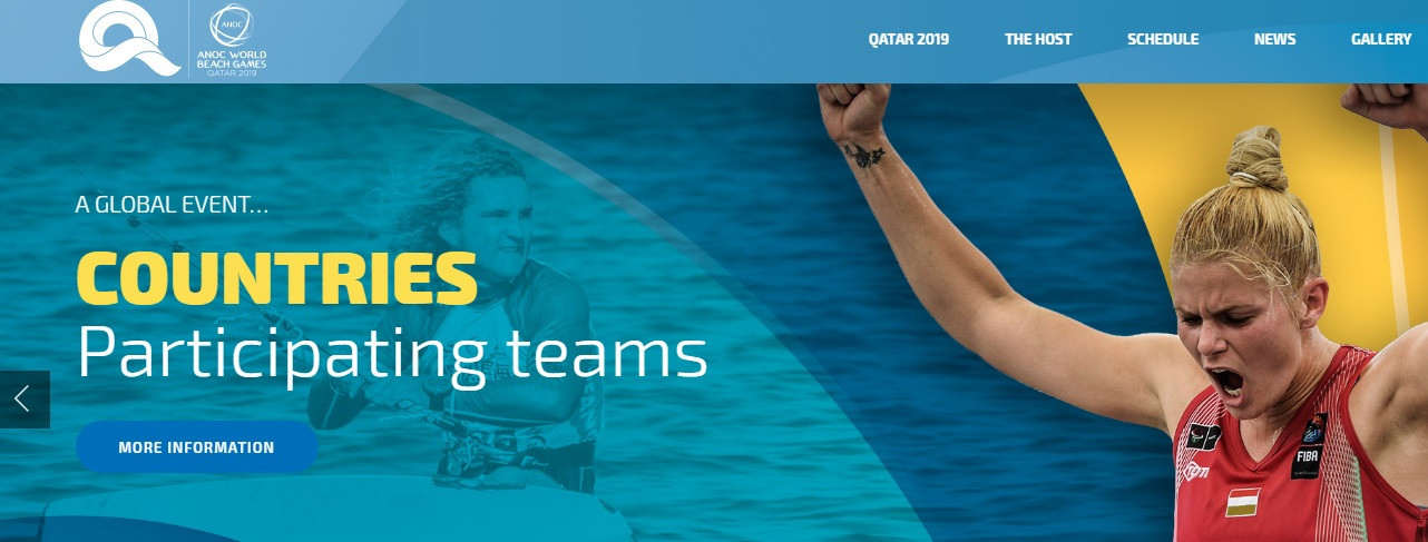 ANOC launch new website for World Beach Games in Doha