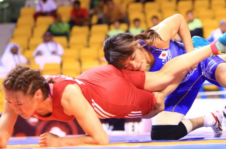 Three-time Olympic champion takes gold on opening day of Asian Wrestling Championships