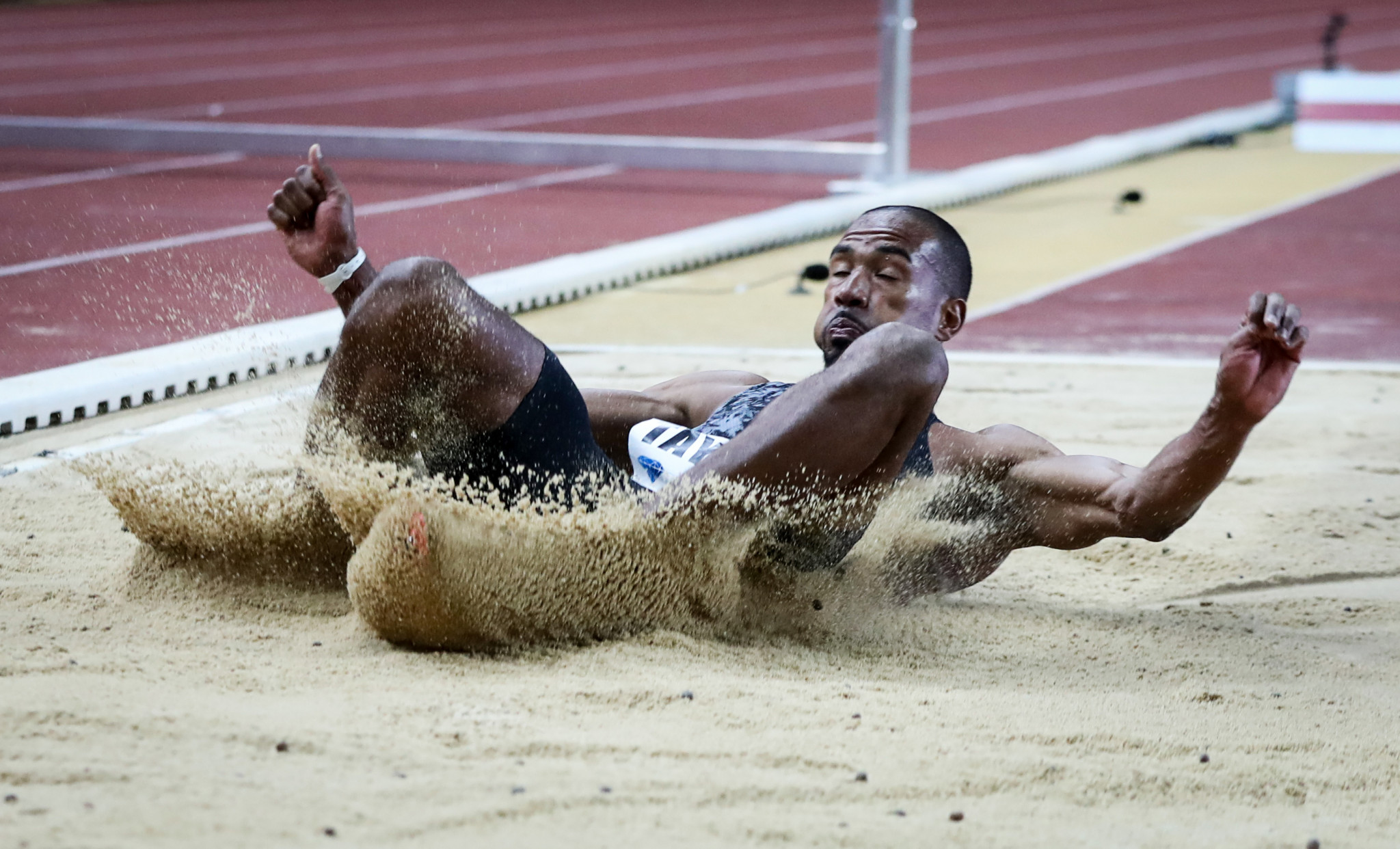 Triple jumper Christian Taylor faces stiff competition in Brussels ©VALERY HACHE/AFP/Getty Images