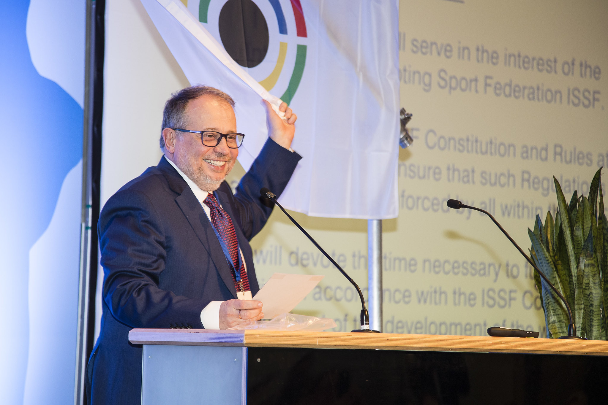Vladimir Lisin was tasked with overhauling the constitution in 2016 but the document was rejected ©ISSF