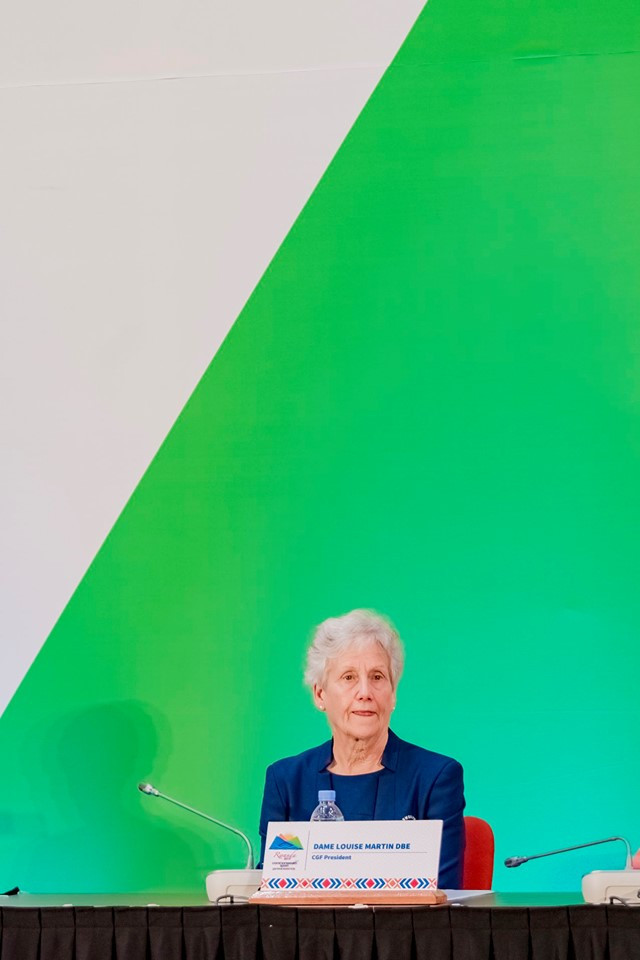 Dame Louise Martin pledged to use the Commonwealth Games to