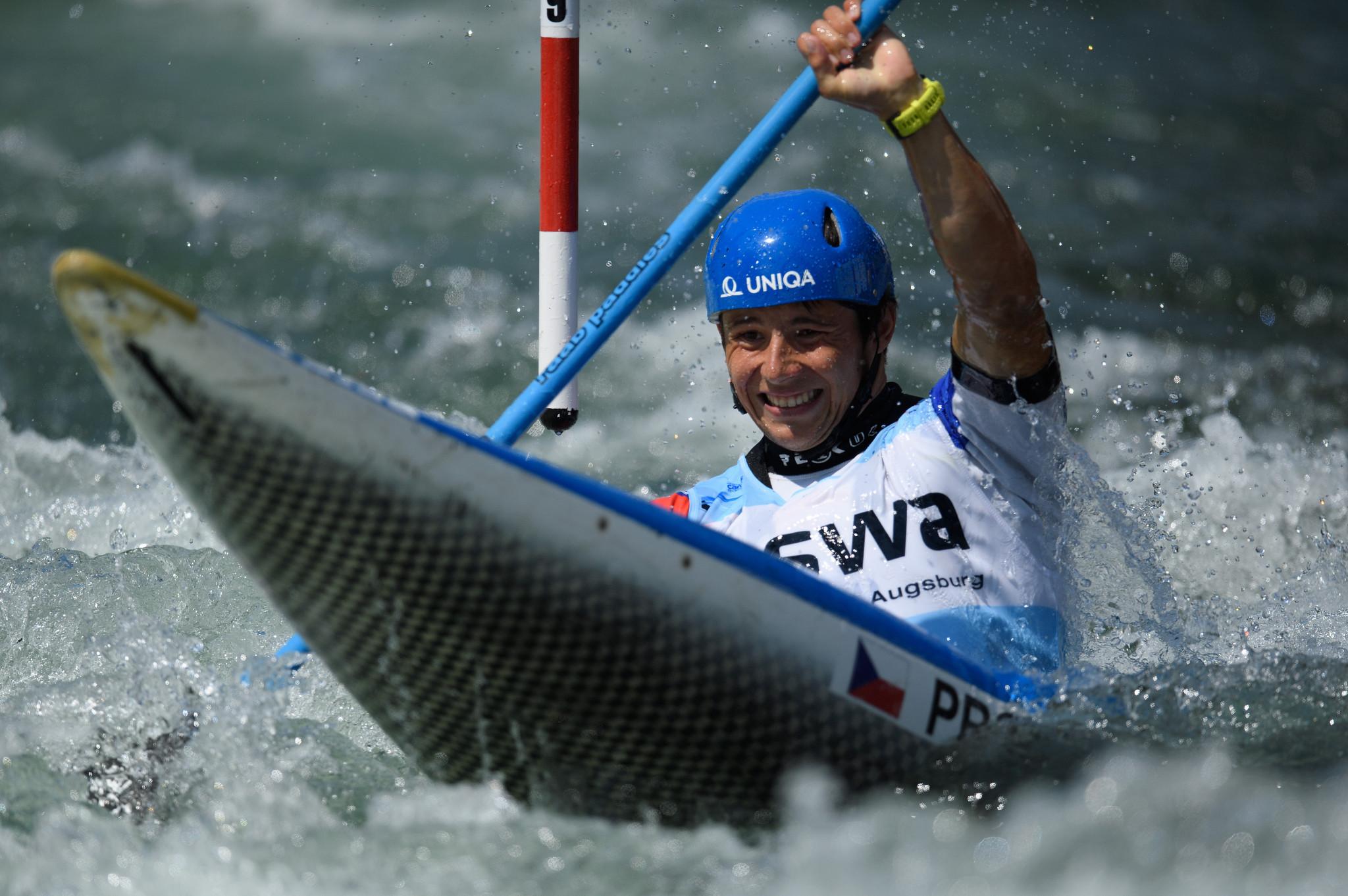 Olympic bronze medallist Jiří Prskavec of the Czech Republic leads the men's K1 standings ©Getty Images