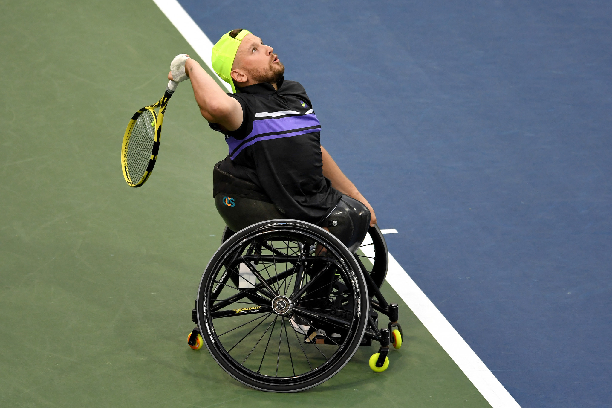 Australia's Dylan Alcott is in the hunt to win the first calendar Grand Slam in quad tennis history ©Getty Images