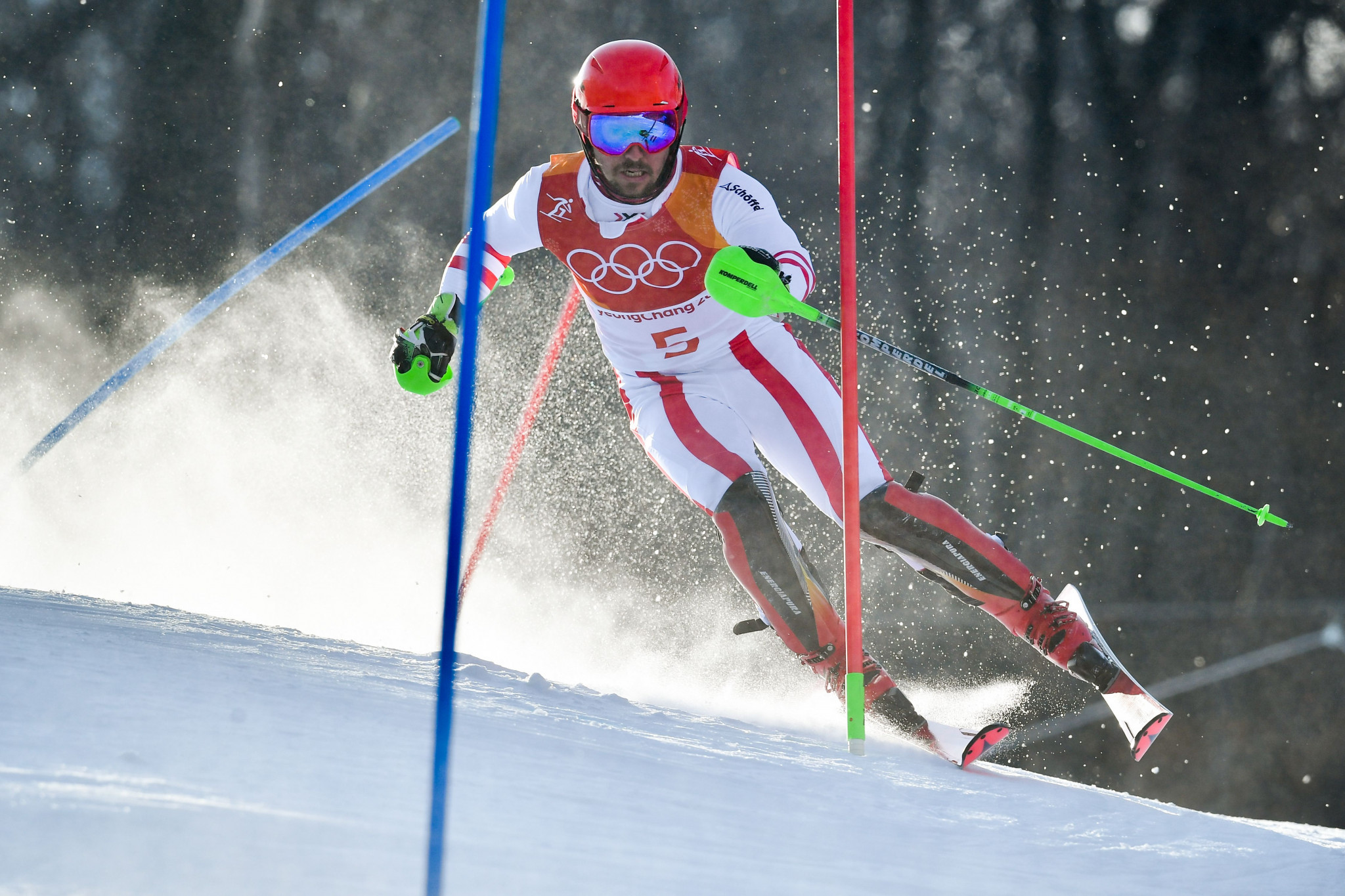 Marcel Hirscher won double Olympic gold at Pyeongchang 2018 ©Getty Images