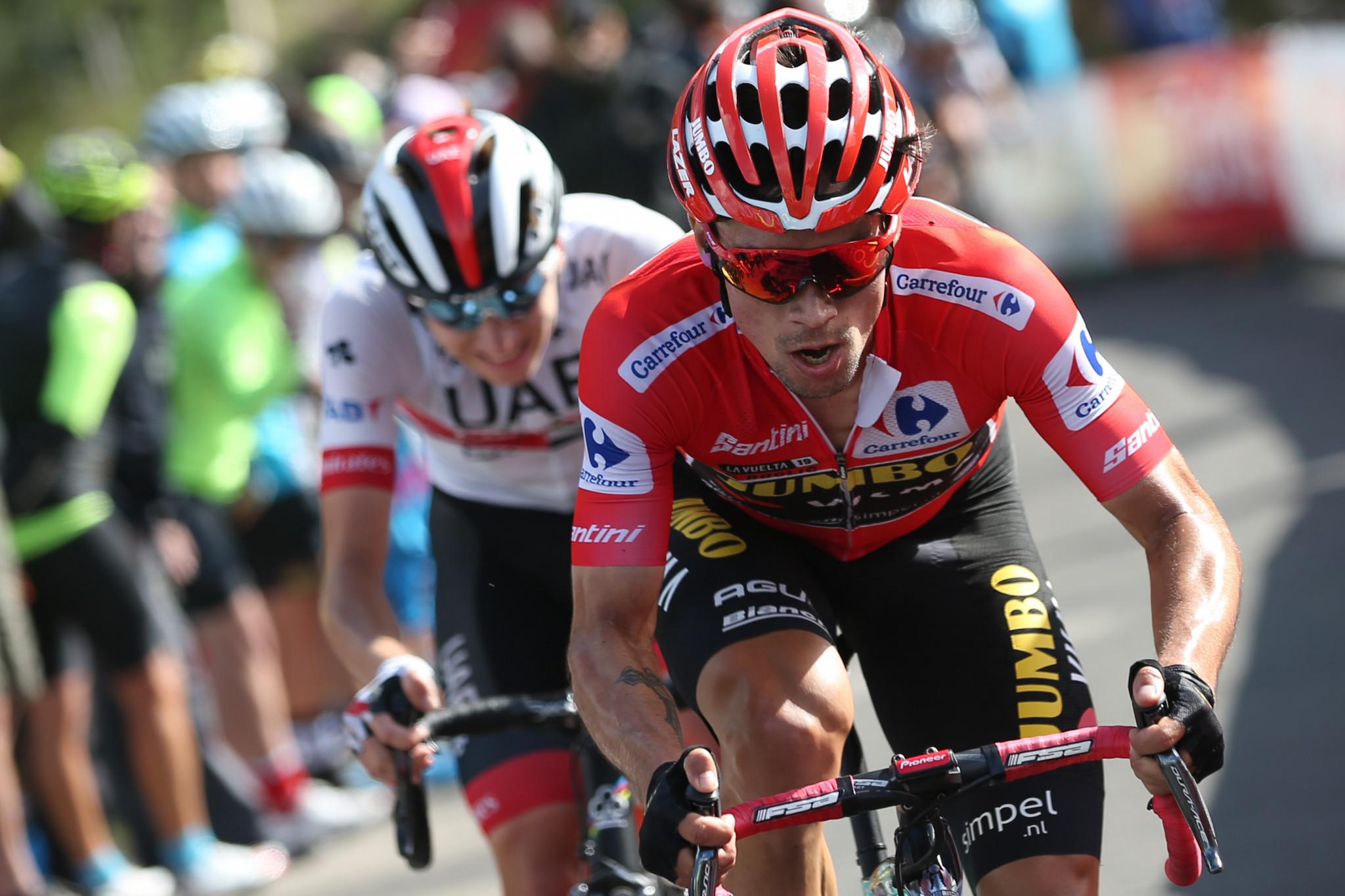 Roglič tightens grip on Vuelta a España by extending overall lead