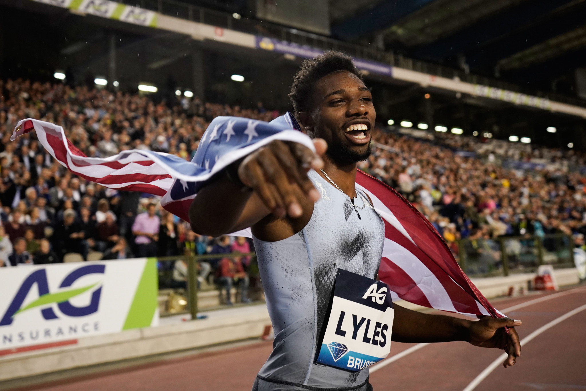 American Noah Lyles won the men's 200m in Brussels ©Getty Images