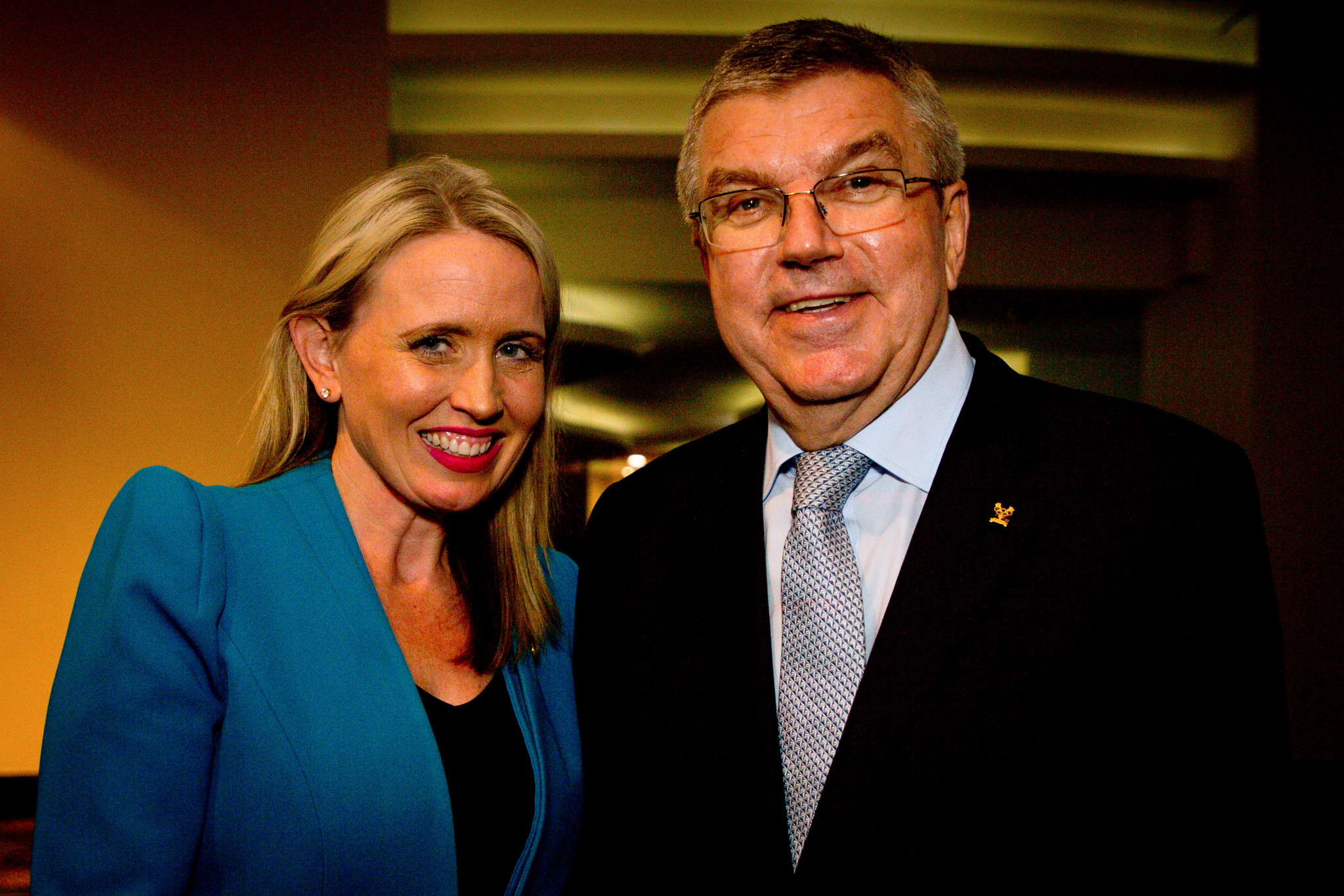 IOC President Thomas Bach, right, has consistently praised Queensland's bid ©Getty Images