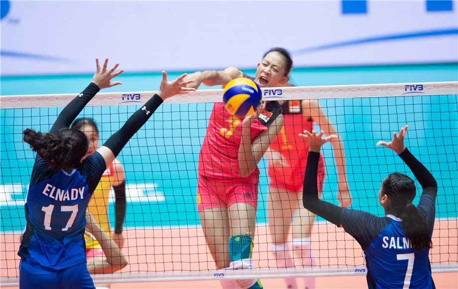 China beat hosts Egypt in the FIVB Girls' U18 World Championship pool match today ©FIVB