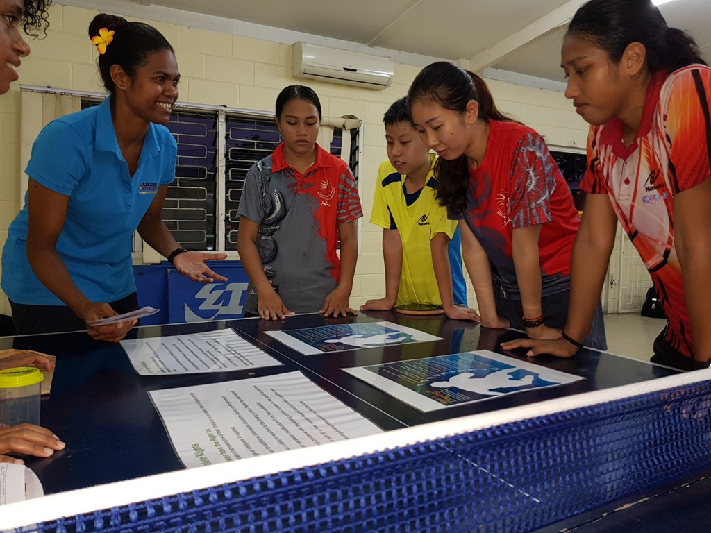 Around 900 students were estimated to have visited the VOA booth over three events ©FASANOC