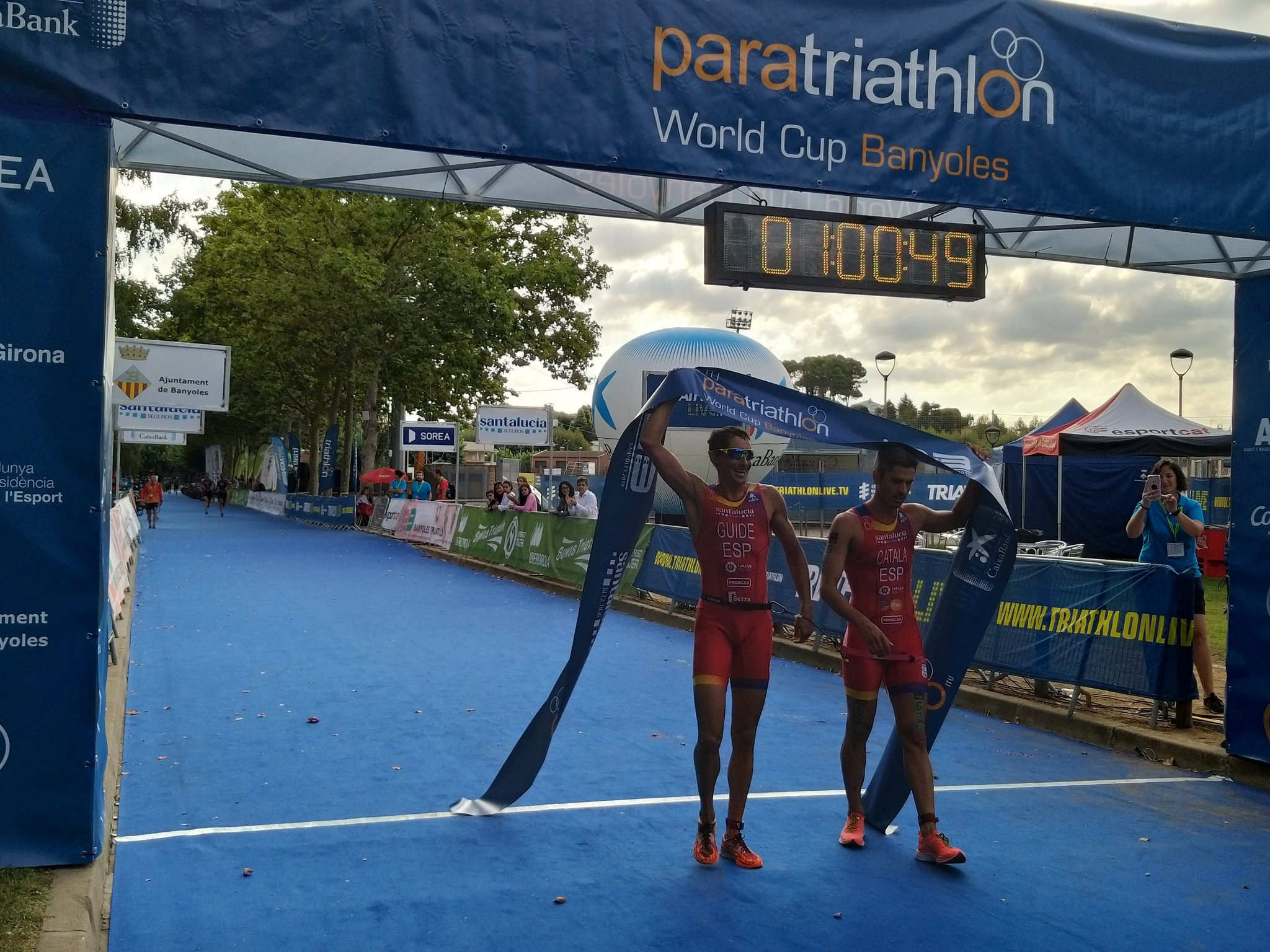 Spain dominate ITU Paratriathlon World Cup in Banyoles