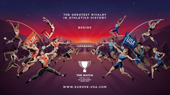 Athletics champions line up for The Match Europe v USA in Minsk
