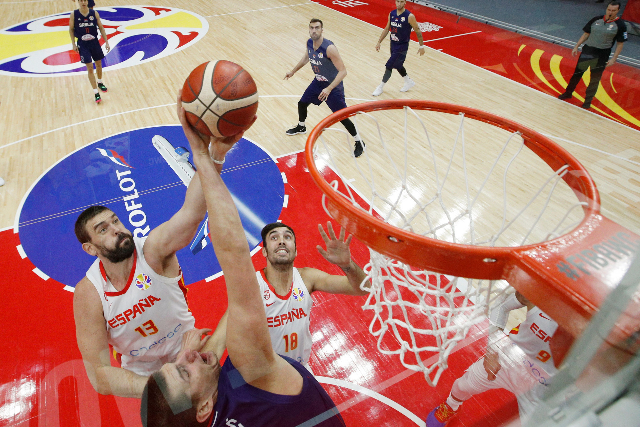 Spain earned an important win over Serbia at the FIBA World Cup in China ©Getty Images
