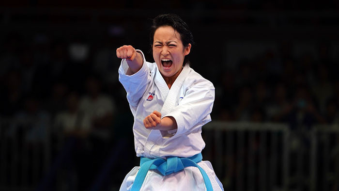 Shimizu earns dramatic kata gold at Karate 1-Premier League