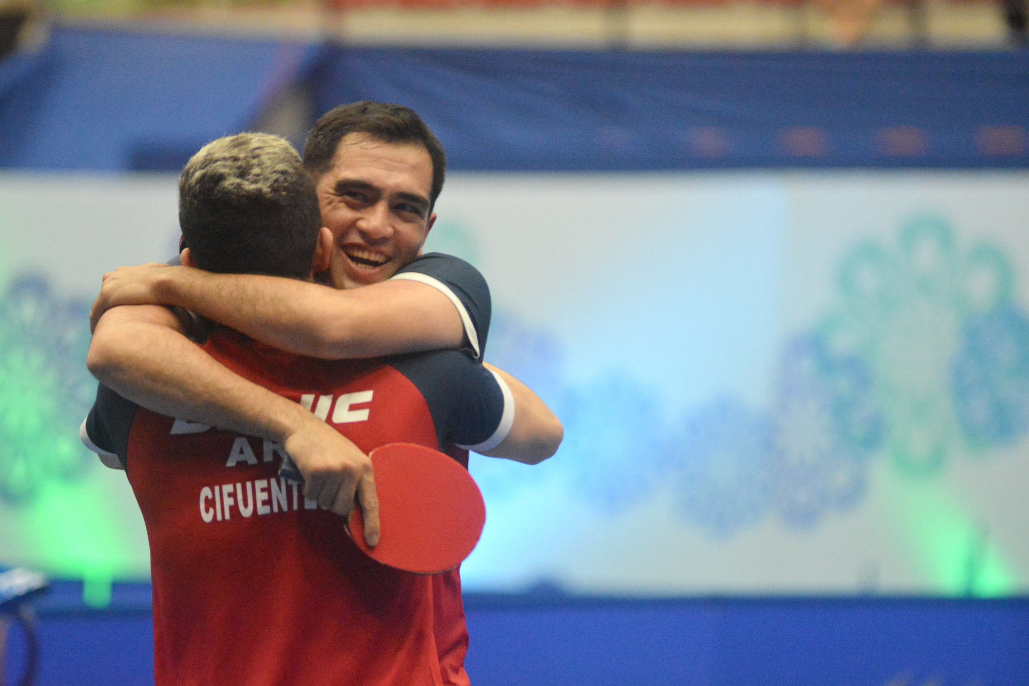 Gaston Alto and Horacio Cifuentes of Argentina won the mixed doubles title ©ITTF