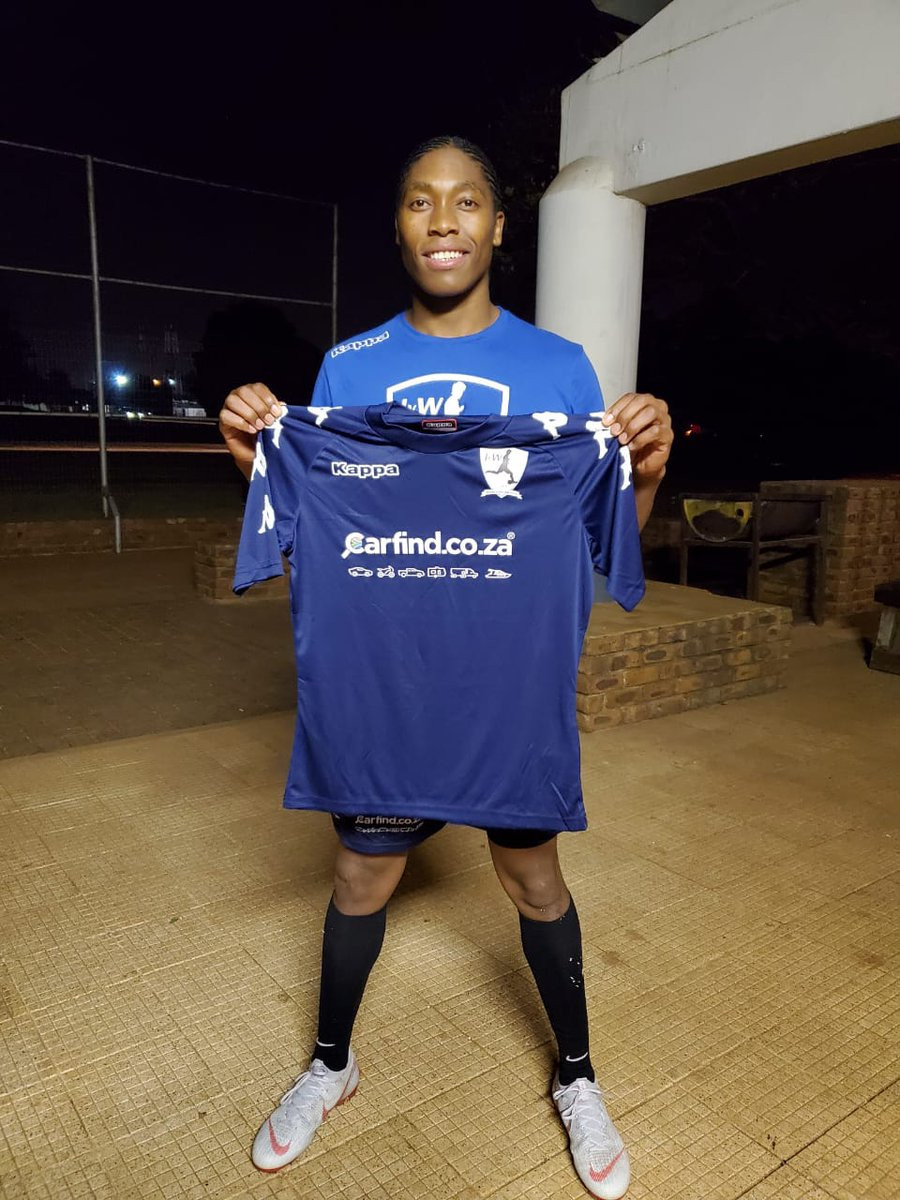 Caster Semenya has signed for South African football club JVW ©Caster Semenya/Twitter