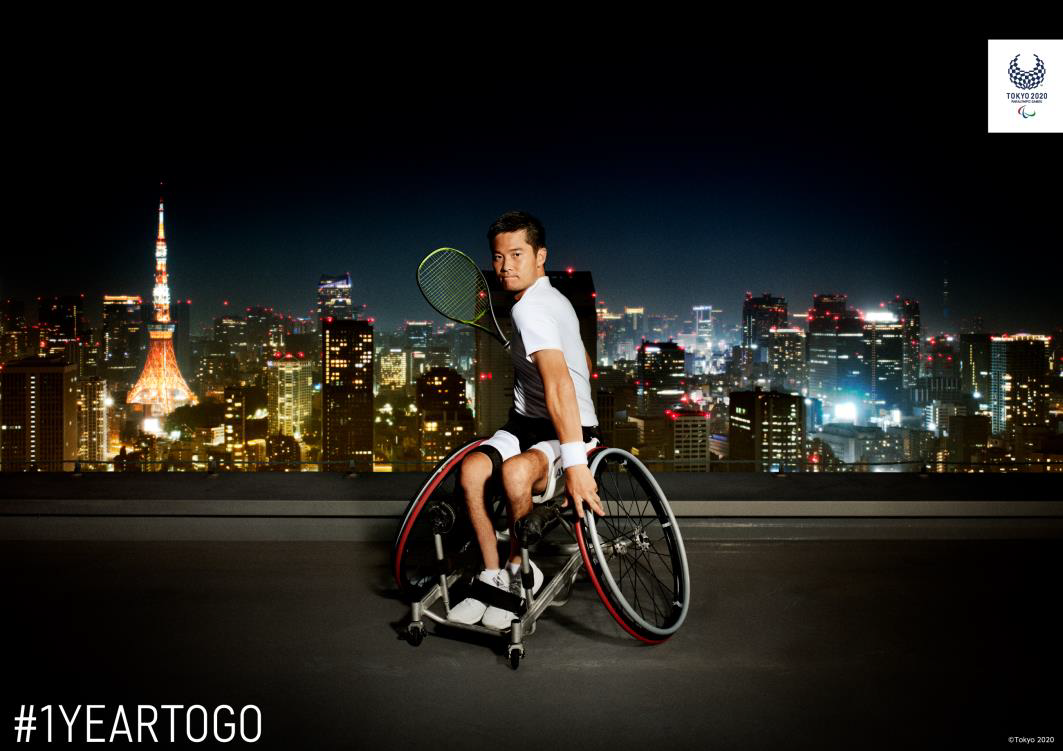 Wheelchair tennis star Kunieda features in latest visual for Tokyo 2020 Paralympics campaign