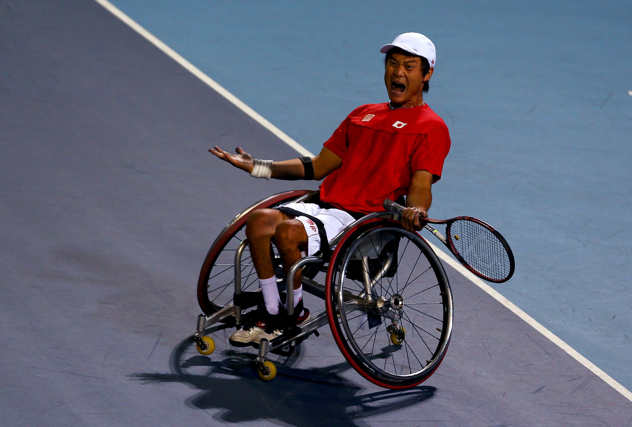 Shingo Kunieda won the second of his two Paralympic men's singles titles at London 2012 ©Getty Images