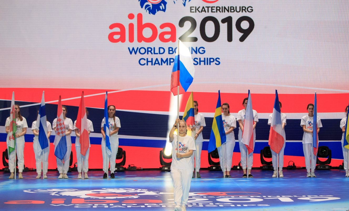 Putin's message was played during the AIBA Men's World Championships Opening Ceremony ©Yekaterinburg 2019