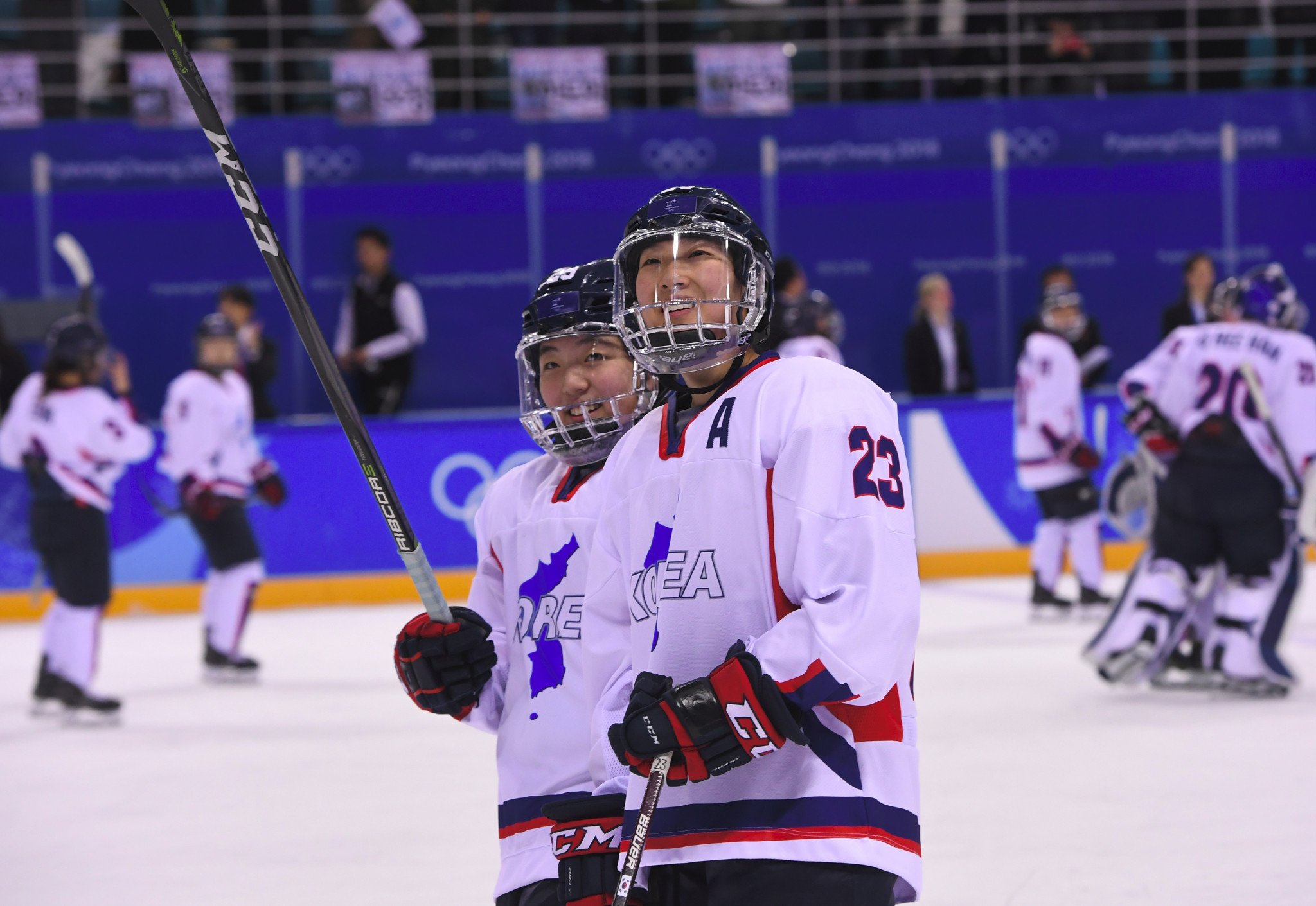 Korea formed a unified women's ice hockey team at Pyeongchang 2018 ©Getty Images