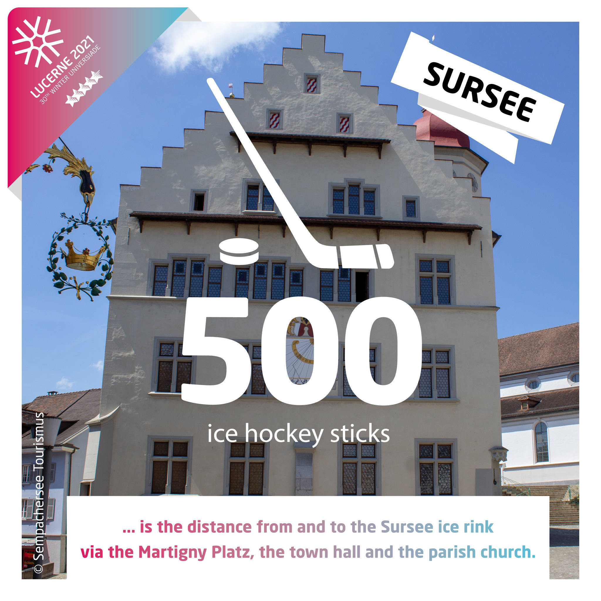 Lucerne 2021 has released various facts related to the number 500 ©Sempachersee Tourismus