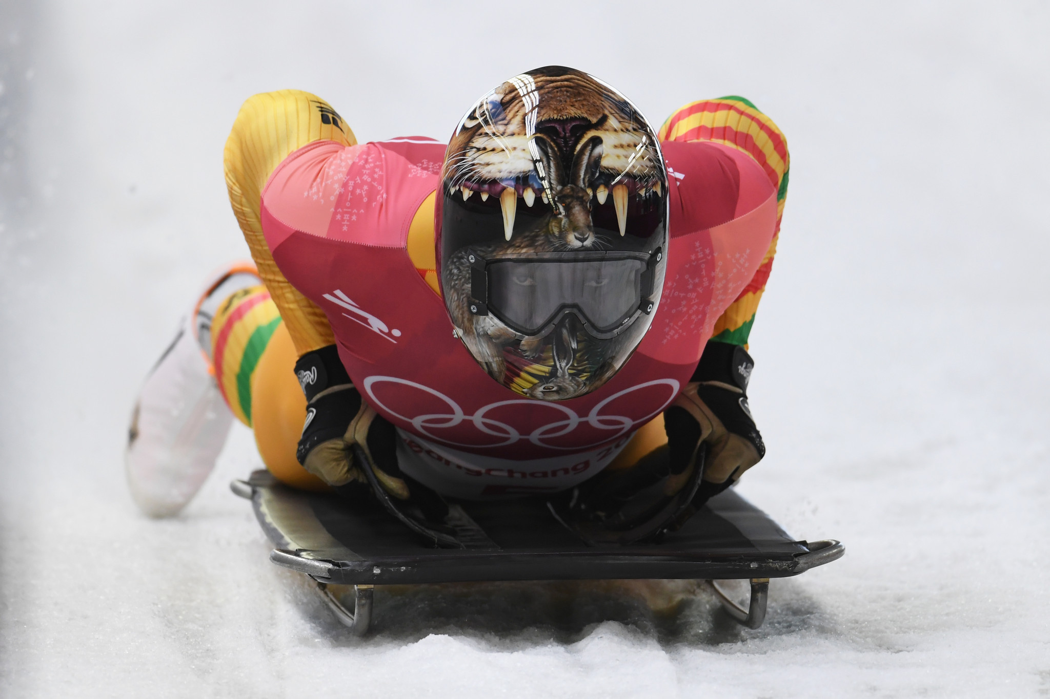Akwasi Frimpong became Ghana's first Winter Olympian in skeleton at Pyeongchang 2018 ©Getty Images