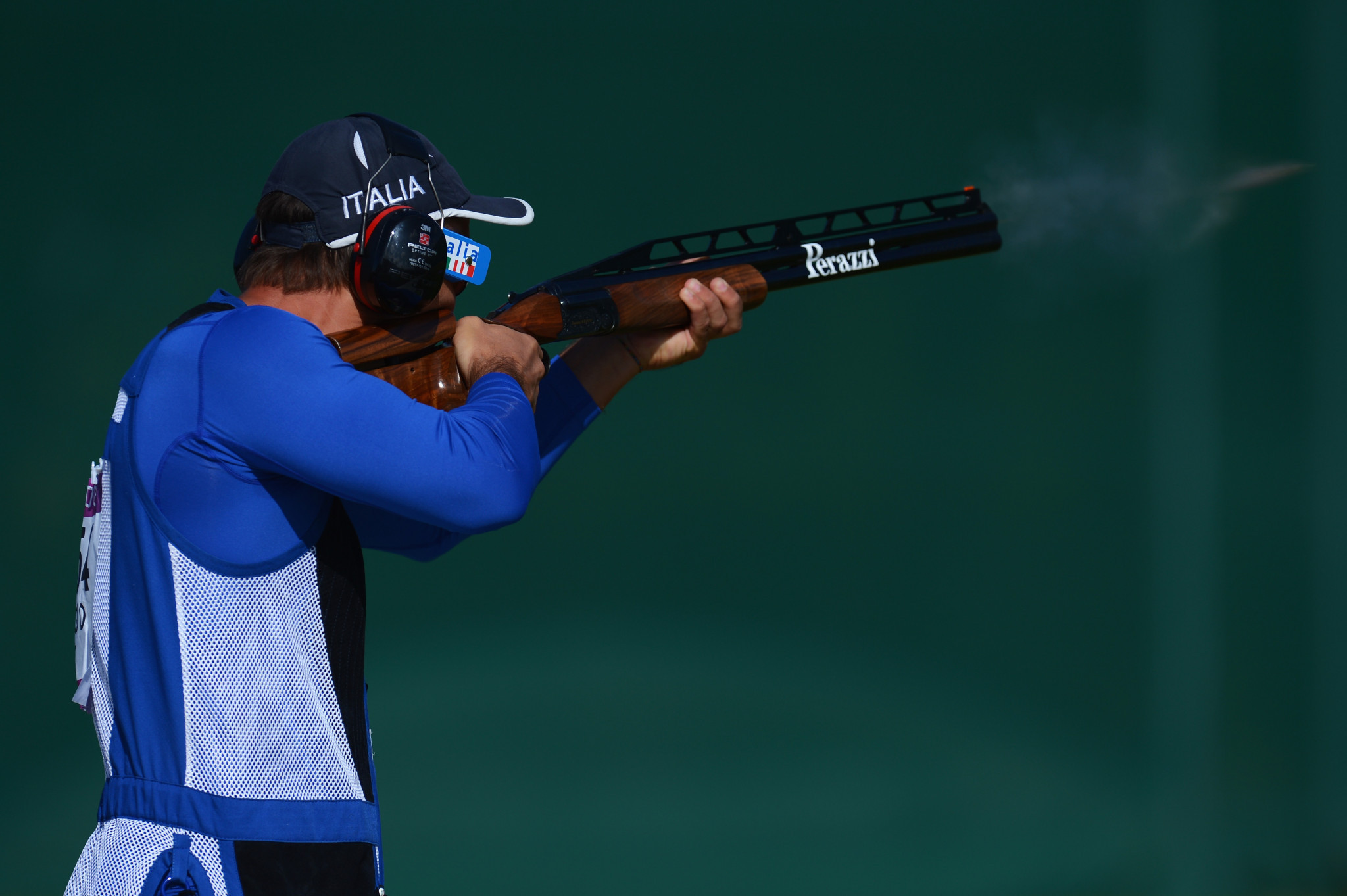 Di Spigno leads Italian podium sweep in men's double trap at European Championship Shotgun