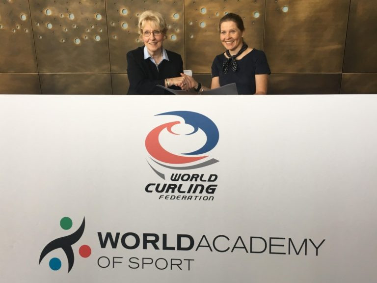 The World Curling Federation and the World Academy of Sport joined together to establish the World Curling Academy in November 2018 ©WCF