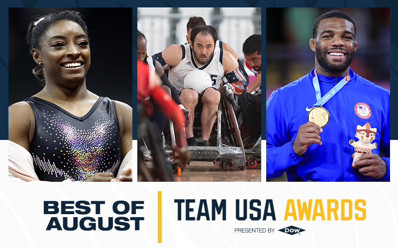 Burroughs, Biles and wheelchair rugby team scoop USOPC Best of August awards