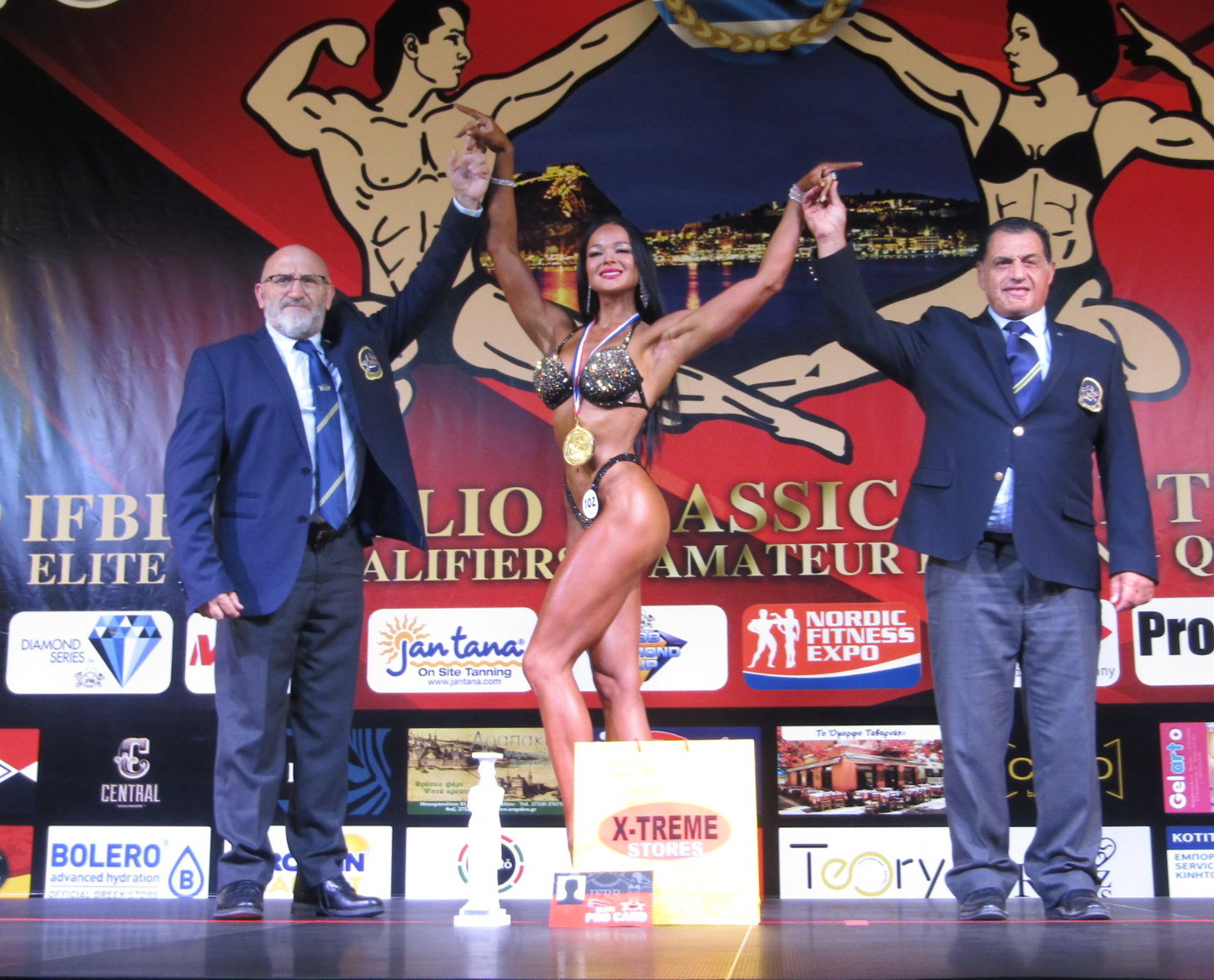 The Nafplio Classic is likely to become a regular on the bodybuilding calendar ©IFBB