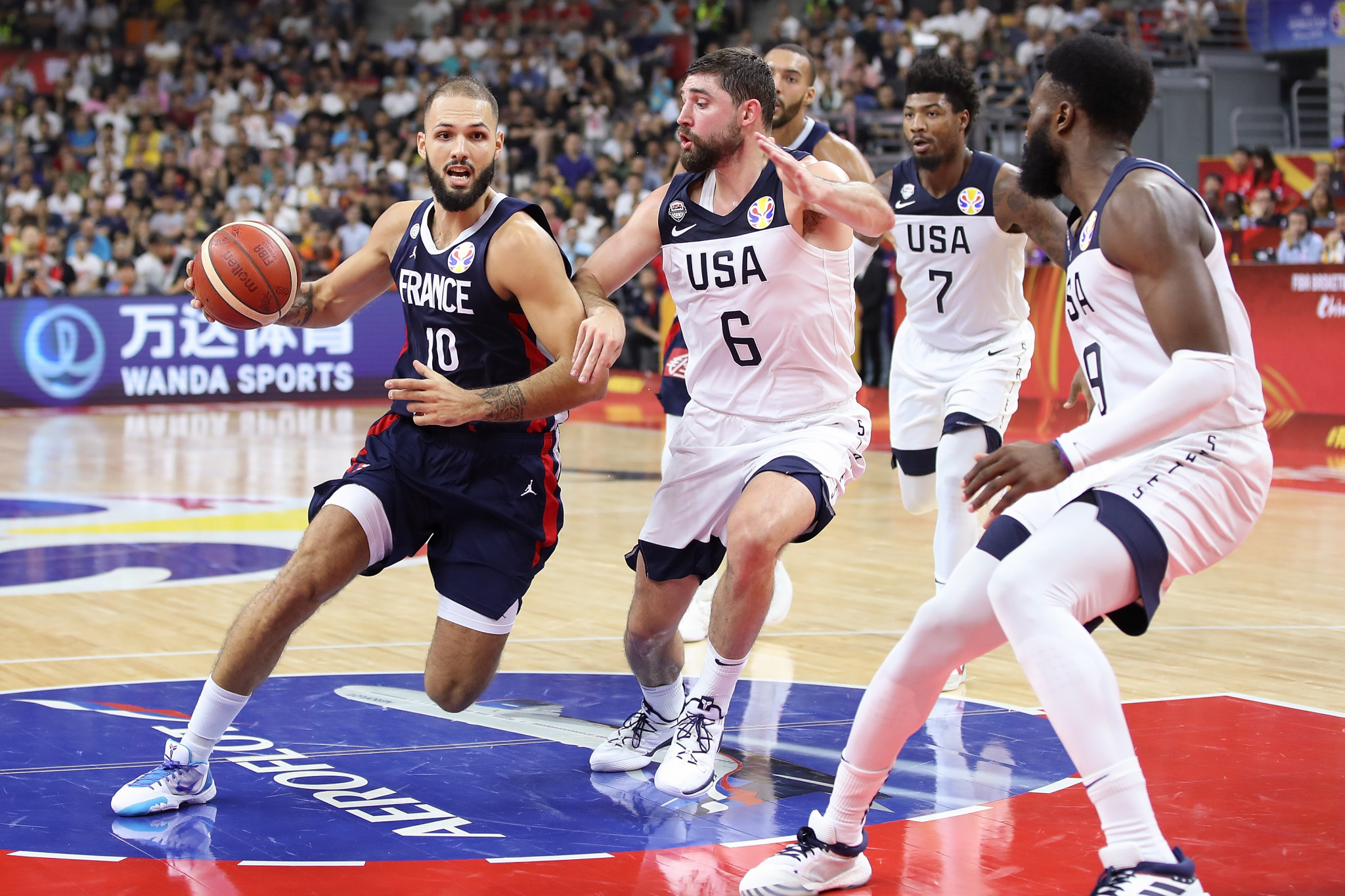 France stun holders US to reach semi-finals at FIBA World Cup