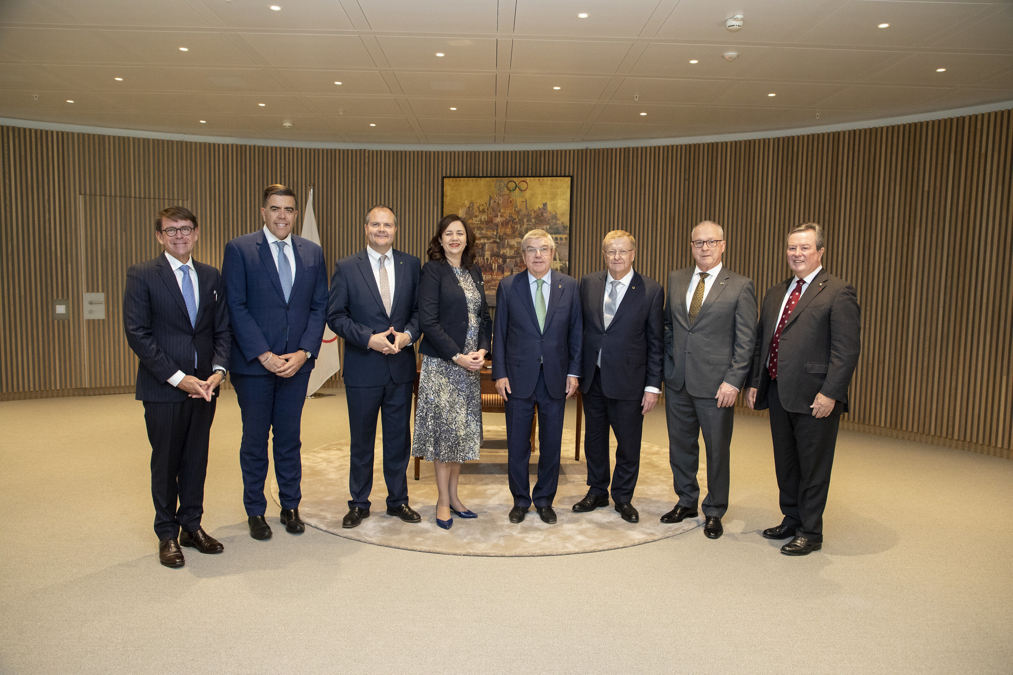 A delegation from Australia visited the IOC for talks about a possible 2032 bid this week ©IOC