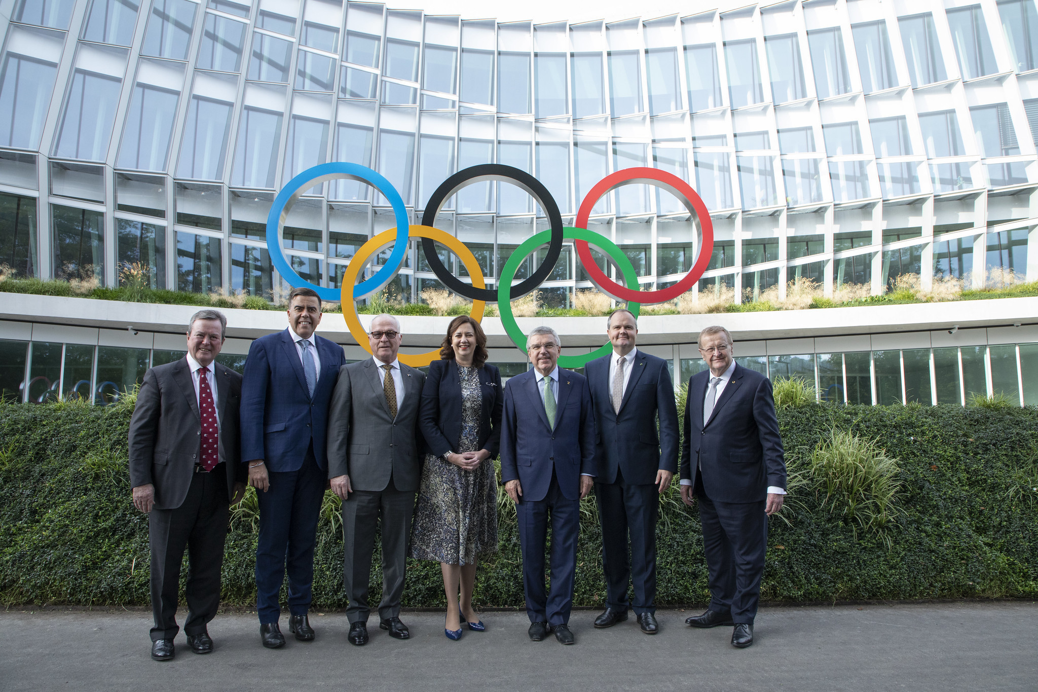 The Australian delegation present a united front ©IOC