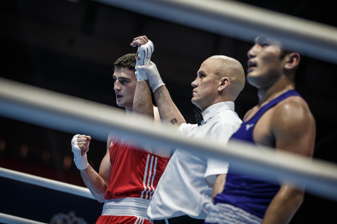 Sammy Lee of Wales defeated Jordan's Odai Alhindawi to set up the clash with Kushitashvili ©Yekaterinburg 2019