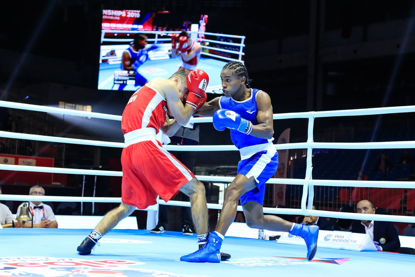 The Finnish boxer was the victor, narrowly triumphing 3-2 ©Yekaterinburg 2019