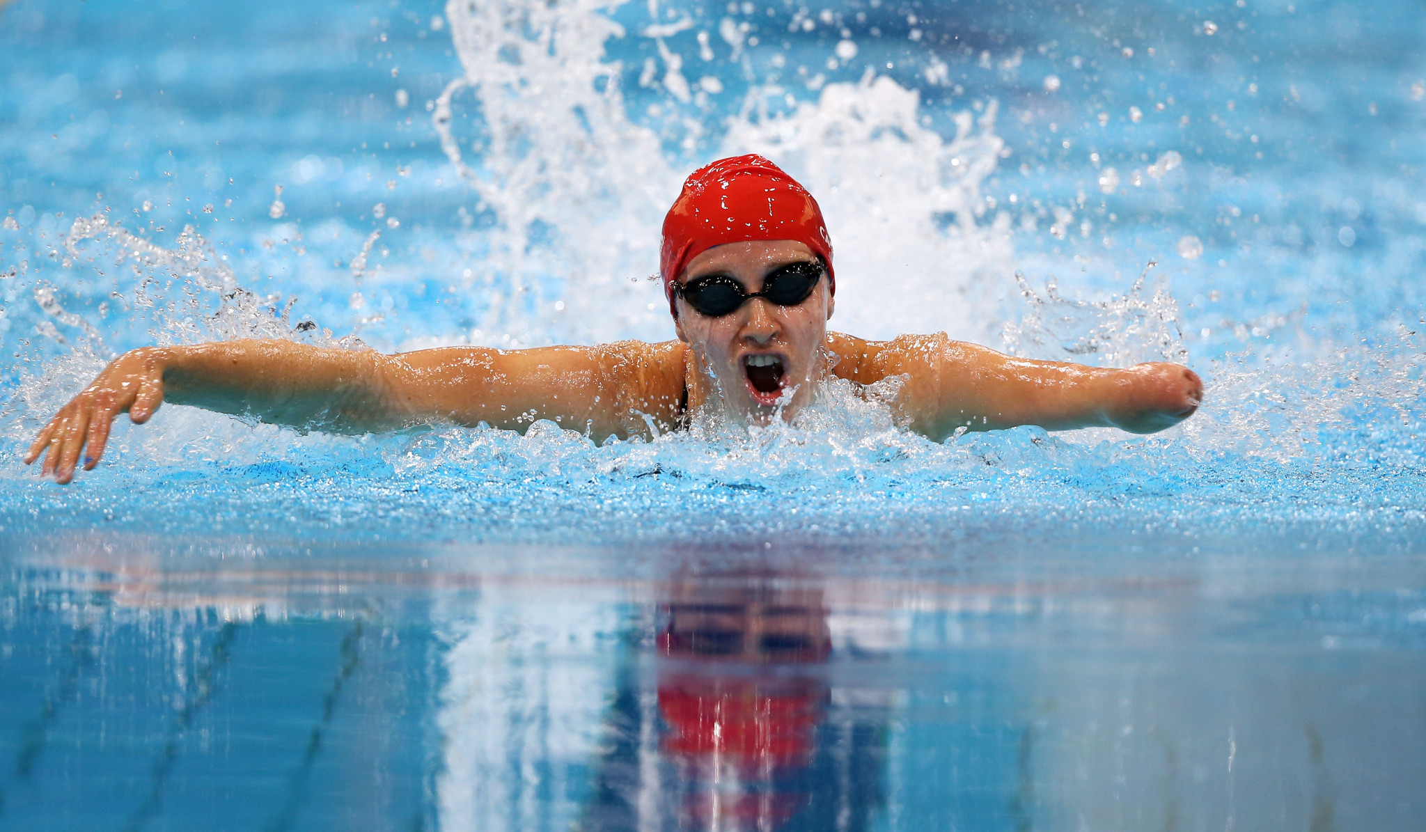 Claire Cashmore was second after the public vote ©Getty Images