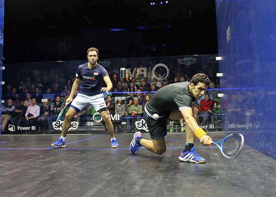 Egypt's Omar Mosaad claimed a surprise win over defending champion Ramy Ashour ©squashpics