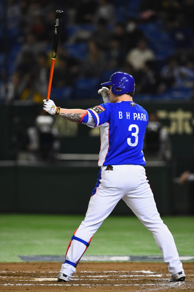 Park Byung-Ho hit a huge home run as South Korea overpowered the US ©Getty Images