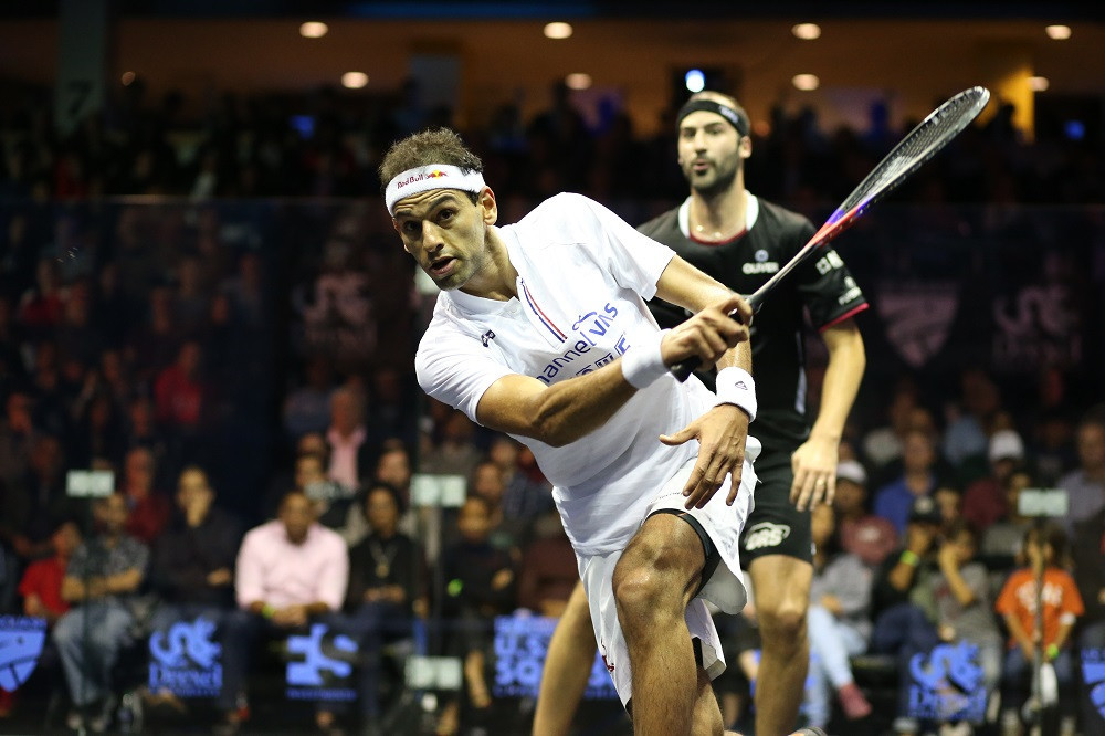 Mohamed ElShorbagy will aim to defend his men's title ©PSA