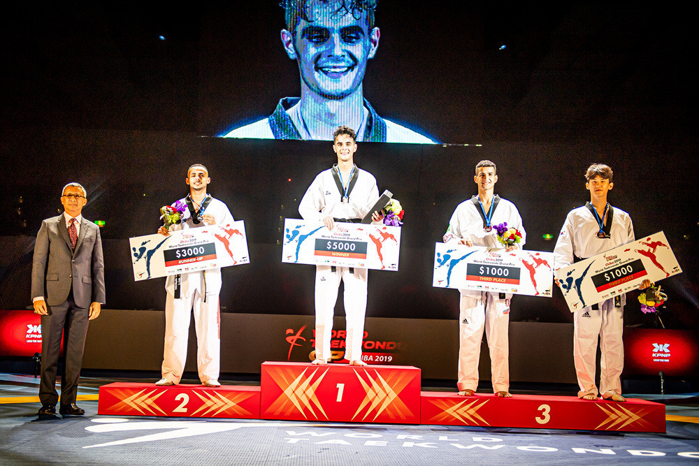 Iran's Mirhashem Hosseini won men's -68kg gold at the World Taekwondo Grand Prix ©World Taekwondo