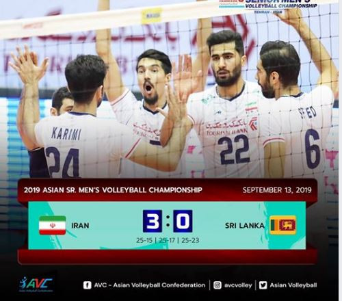 Hosts Iran made an ideal start to the Asian Men's Volleyball Championship ©AVC