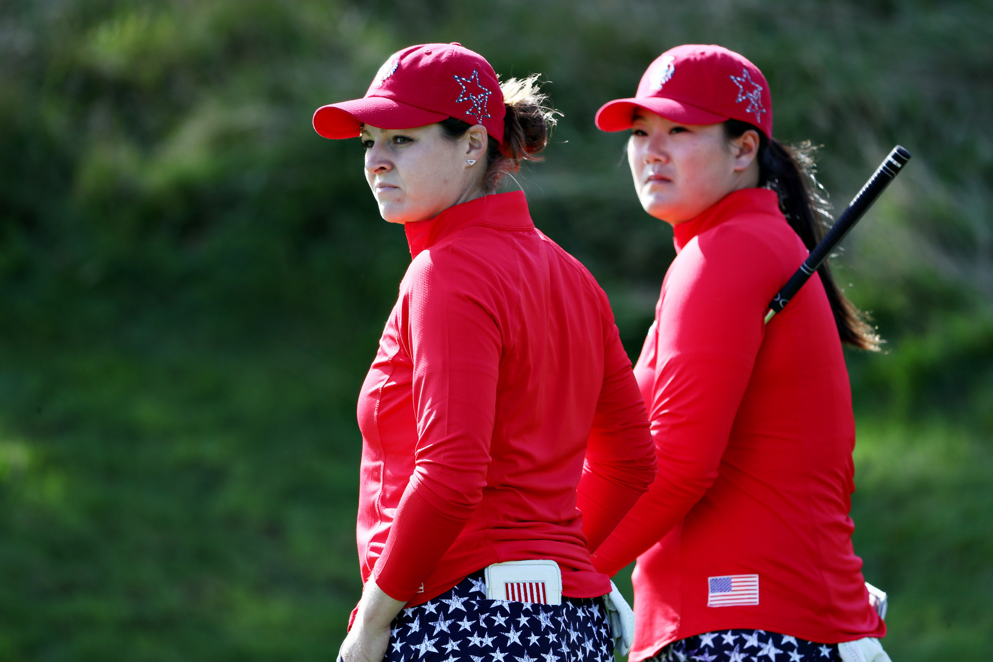 Ally McDonald and Angel Yin equalled the biggest fourballs win in the history of the competition ©Getty Images