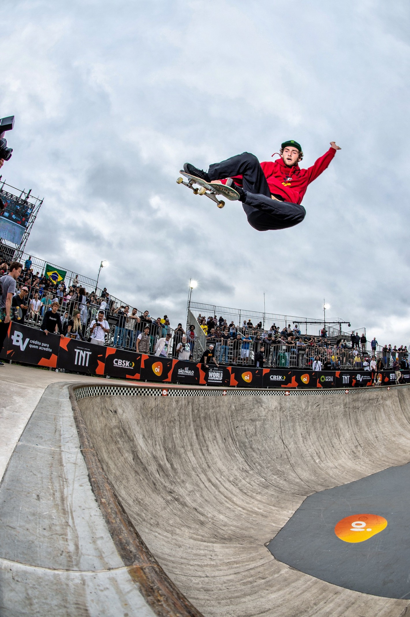 Thomas Schaar of the United States, who had topped open qualifying, took first place in the men's quarter-finals at the World Skate Park World Championship in São Paulo ©World Skate