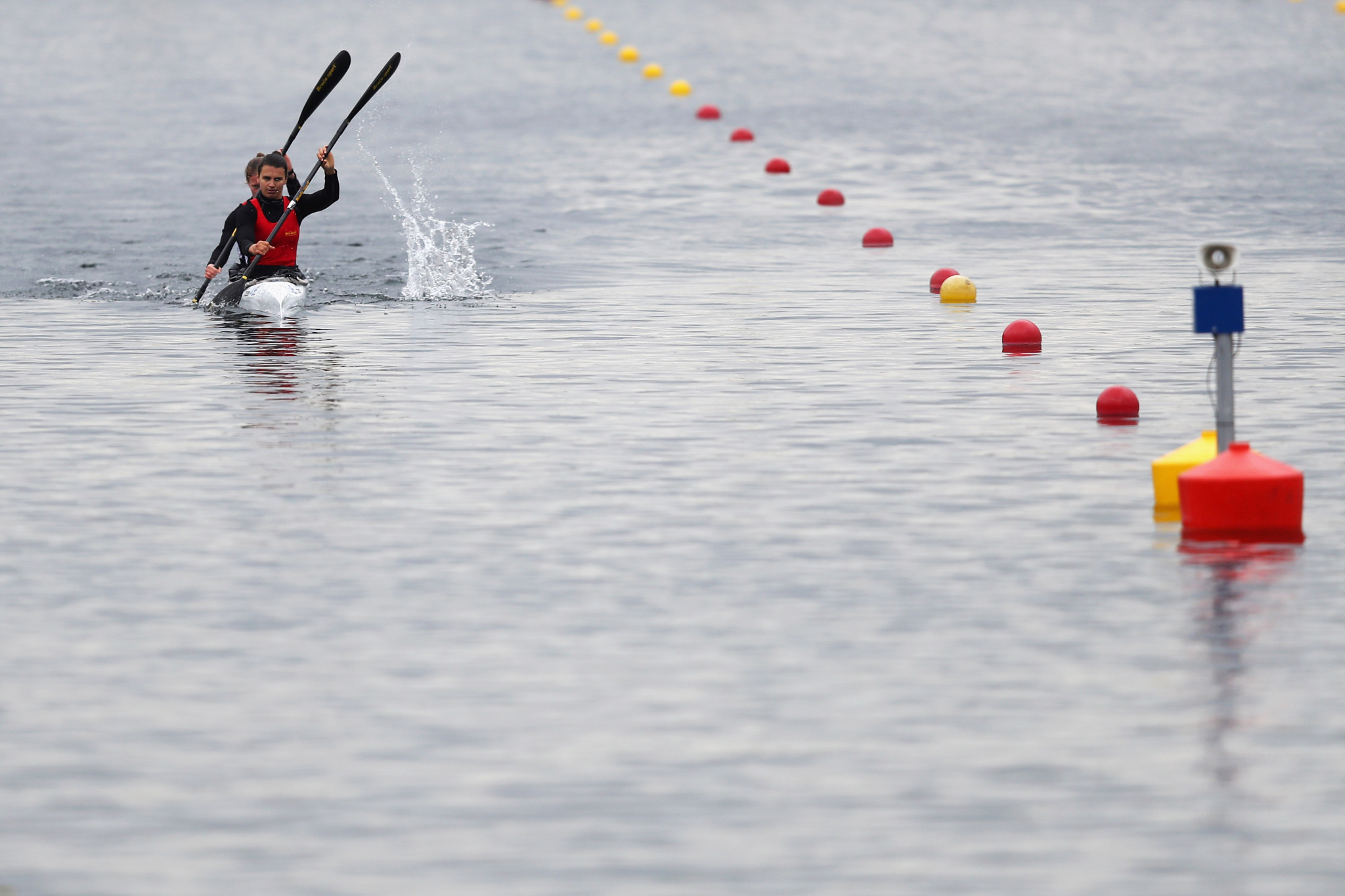 Lize Broekx and Hermien Peters enjoyed a one-two finish in the women's K1 500m ©Getty Images