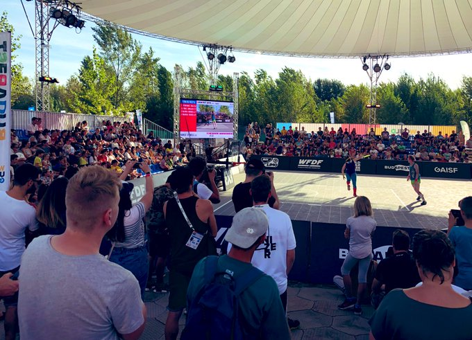 The freestyle flying disc final took place in front of an interested crowd ©WUG Budapest 2019